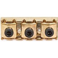'Guitarworks Electric Guitar Tremolo Locking Nut Gold 42mmx15.3mm