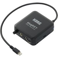 Korg plugKEY MIDI Audio Interface for iOS Devices Black - B-Stock