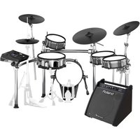 Roland TD-50KV V-Drums Electronic Drum Kit with PM-200 Drum Monitor