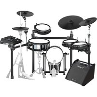 Roland TD-50K V-Drums Electronic Drum Kit with PM-200 Drum Monitor