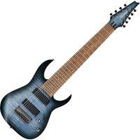 Ibanez RGIR9FME Iron Label 9-String Faded Denim Flat