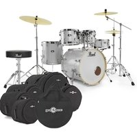 Image of Pearl Export EXX 22 Drum Kit Arctic Sparkle w/Bags and Stool