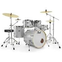 "Image of Pearl Export EXX 22"" Drum Kit Arctic Sparkle w/Splash and Stool"