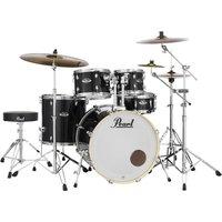 Image of Pearl Export EXX 22 Drum Kit Jet Black w/Splash and Stool