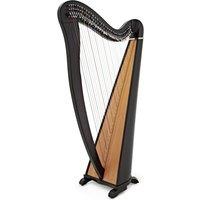 Deluxe 34 String Roundback Harp by Gear4music Black