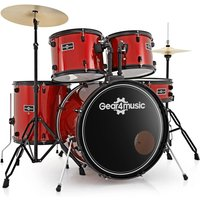 Image of BDK-1 Full Size Starter Drum Kit by Gear4music Red