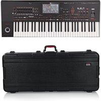 Korg Pa4X 61 Professional Arranger Keyboard Gator Case Bundle