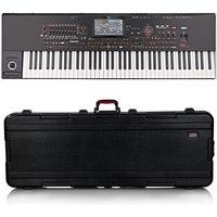 Korg Pa4X 76 Professional Arranger Keyboard Gator Case Bundle