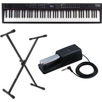 Roland RD-88 Stage Piano with DP-10 Pedal and X-Frame Stand