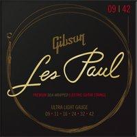 Image of Gibson Les Paul Premium Ultra-Light Electric Guitar Strings 9-42