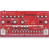 Behringer TD-3 Analog Bass Line Synthesizer Transparent Red