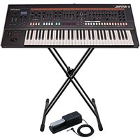 Roland Jupiter-X 61 Key Synthesizer with Stand and Pedal
