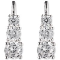 Image of Ladies Anne Klein Silver Plated Fancy Additions Earrings