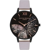 After Dark Butterfly Black & Grey Lilac Watch