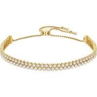Ladies Swarovski Gold Plated Subtle Bracelet