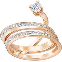 Ladies Swarovski Rose Gold Plated Size L Fresh Ring