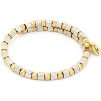 Ladies Chrysalis Two-tone steel/gold plate Gaia Moon Wrap Bangle