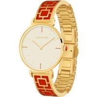Maya Red and Gold Bangle Watch
