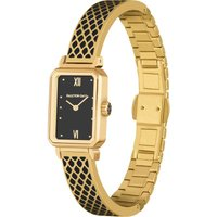 Salamander Black and Gold Bangle Watch