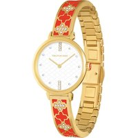 Agama Sparkle Red and Gold Bangle Watch
