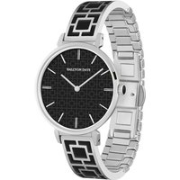 Maya Black and Palladium Bangle Watch