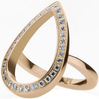 Image of Ladies STORM Rose Gold Plated Elipsia Ring Size P
