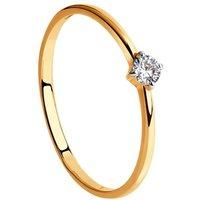 Ladies Sokolov 14 Carat Gold Size N Talisman Cubic Zirconia Ring