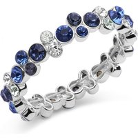 Image of Ladies Anne Klein Silver Plated Cluster Stretch Bracelet