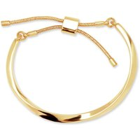 Image of Ladies Anne Klein Gold Plated Slider Bracelet