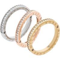 Ladies Michael Kors Multi colour gold Size L.5 Iconic Ring