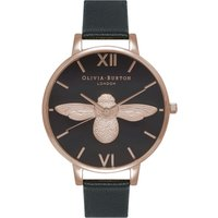 Image of 3D Bee Black & Rose Gold Watch