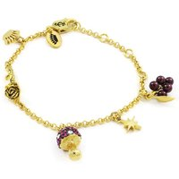 Ladies Juicy Couture Gold Plated Magic Mushrooms Luxe Wishes Charm Bracelet