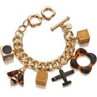 Ladies Orla Kiely Gold Plated Charm Bracelet