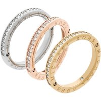 Ladies Michael Kors Multi colour gold Size J Iconic Ring
