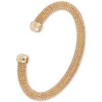 Ladies Anne Klein Gold Plated Ball Chain Torque Bangle