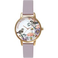 Image of English Garden Grey Lilac & Rose Gold Watch