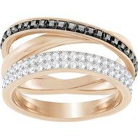 Ladies Swarovski Rose Gold Plated Hero Ring Size 55