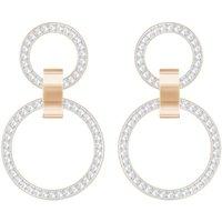 Ladies Swarovski Rose Gold Plated Hollow Earrings