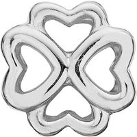 Ladies Christina Sterling Silver Open Foursome Bead Charm