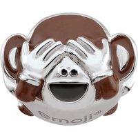 Ladies Persona Sterling Silver See No Evil Monkey Emoji Bead Charm