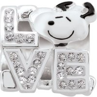 Ladies Persona Sterling Silver Peanuts Snoopy Love Bead Charm