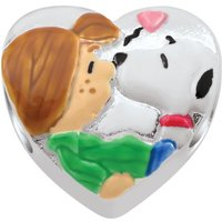 Ladies Persona Sterling Silver Peanuts Patty and Snoopy Bead Charm