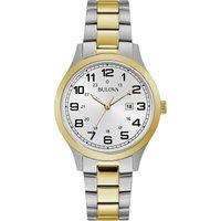 Ladies Bulova Quartz Dress Two-tone steel/gold plate Watch
