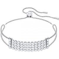 Ladies Swarovski Silver Plated Fit Slider Bracelet