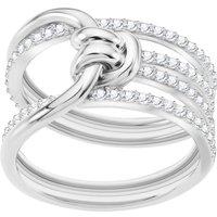 Ladies Swarovski Silver Plated Lifelong Ring Size Q.5