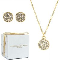 Ladies Johnny Loves Rosie Gold Plated Snowflake Earring and Necklace Gift Set