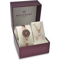 Ladies Accurist Gift Set Watch