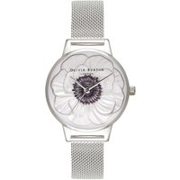 3d Anemone Silver Mesh Watch