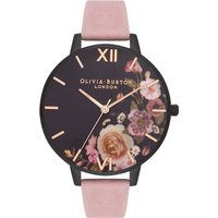 After Dark Matte Black & Rose Suede Watch