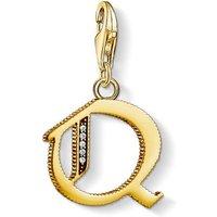 Ladies Thomas Sabo Gold Plated Sterling Silver Charm Club Letter Q Charm